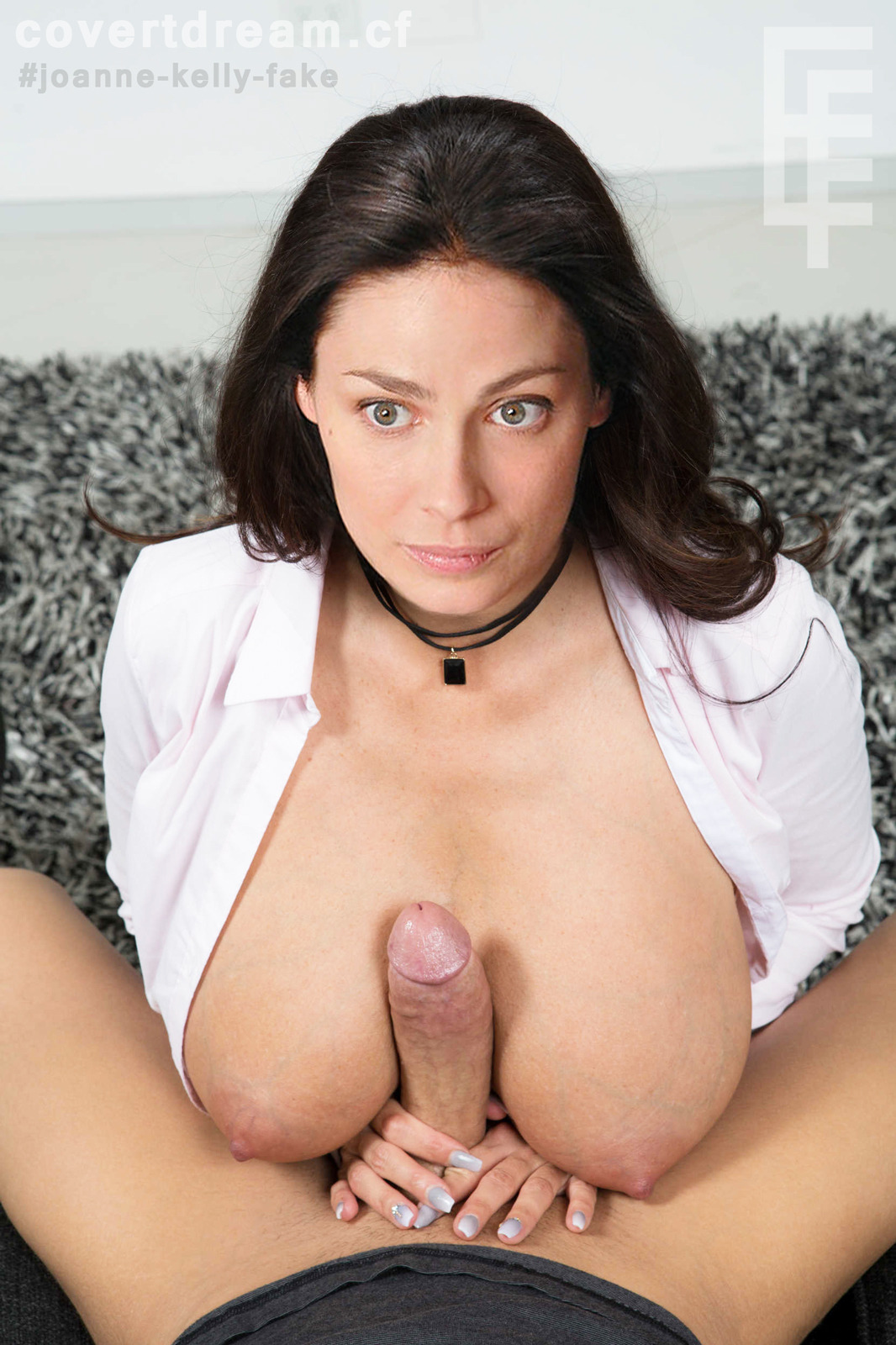 Joanne Kelly Jerks Off A Dick With Her Juicy Tits